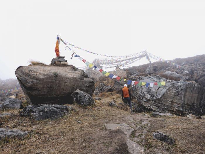 Memorial für an der Annapurna verunglückte Bergsteiger, z.B Anatoli Boukreev